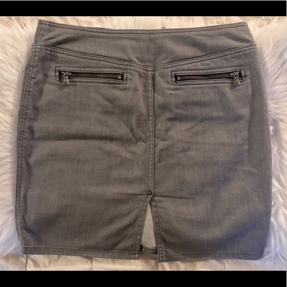 9ccdb102a Marc By Marc Jacobs Grey Denim Zipper Skirt. M_5ade4bc361ca10041e435693